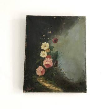 Tableau huile sur toile Cavaillès nature morte peinture