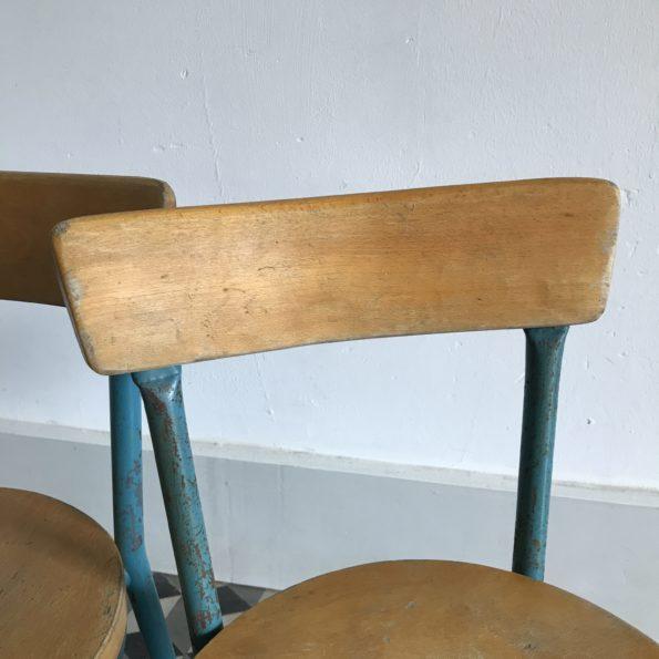 Chaise enfant vintage en bois et métal