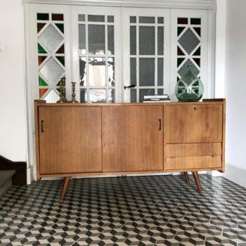 Enfilade en bois scandinave vintage buffet meuble vasque salle de bains