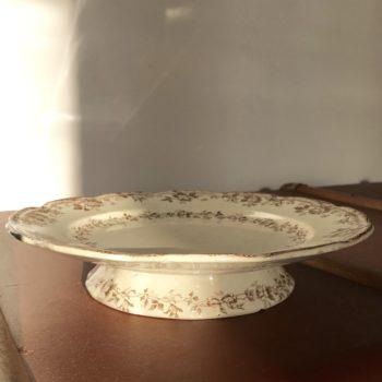 Plat sur pied Faiences Porcelaines Cristaux E.Bourgeois Paris