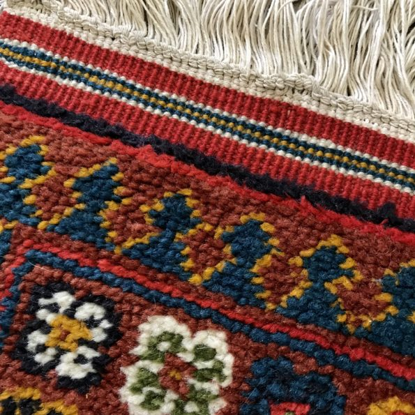 Tapis multicolore fait main