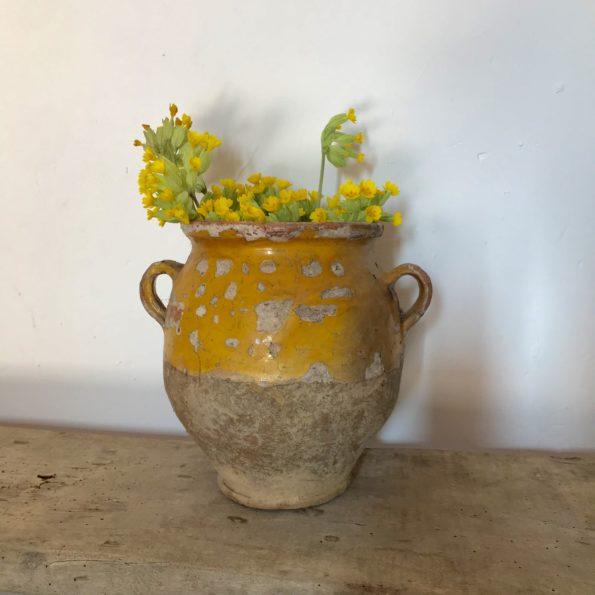 Pot à graisse vernissé jaune