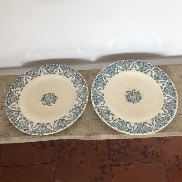 Assiettes plates Longwy Rhodes