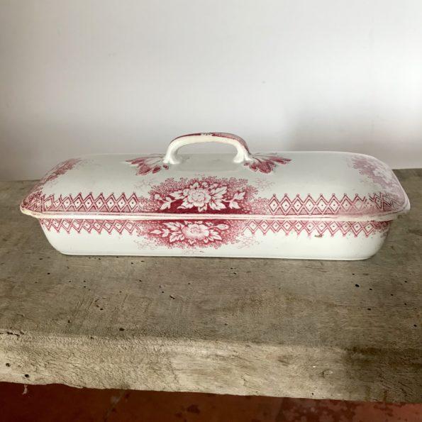 Ancienne boîte à brosses à dents Jardinière U&C Sarreguemines