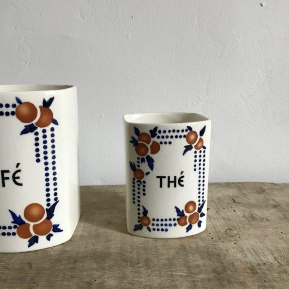 Pot à épices en porcelaine Thé & Café