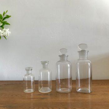 Flacon pharmacie apothicaire ancien en verre vase vintage