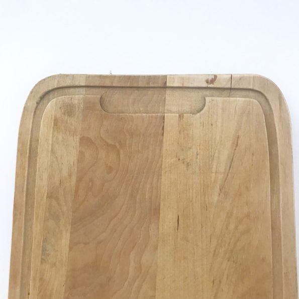 Planche à découper ancienne en bois rectangulaire