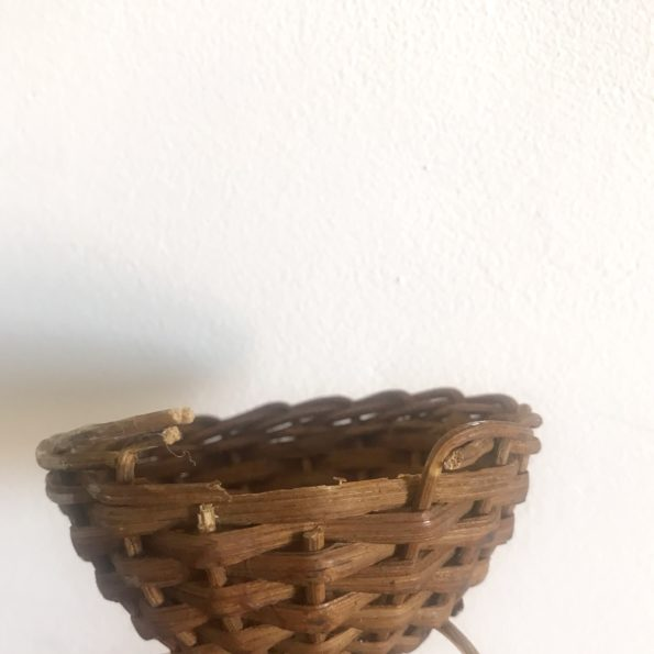 Suspension en rotin osier vintage abat jour