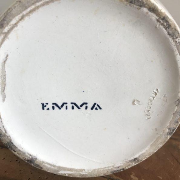 Carafe vase ancien broc de toilette Terre de Fer Longchamp modèle Emma