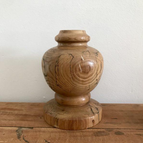 Bougeoir en bois ou pied de lampe