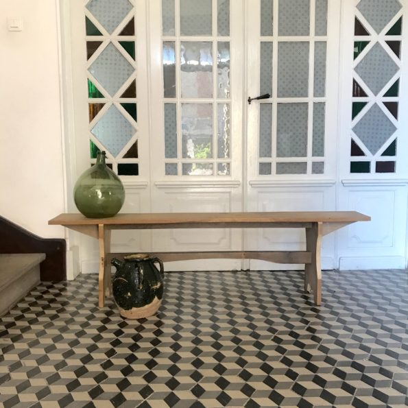 Ancien banc en bois du Carmel d'Albi Tarn vintage