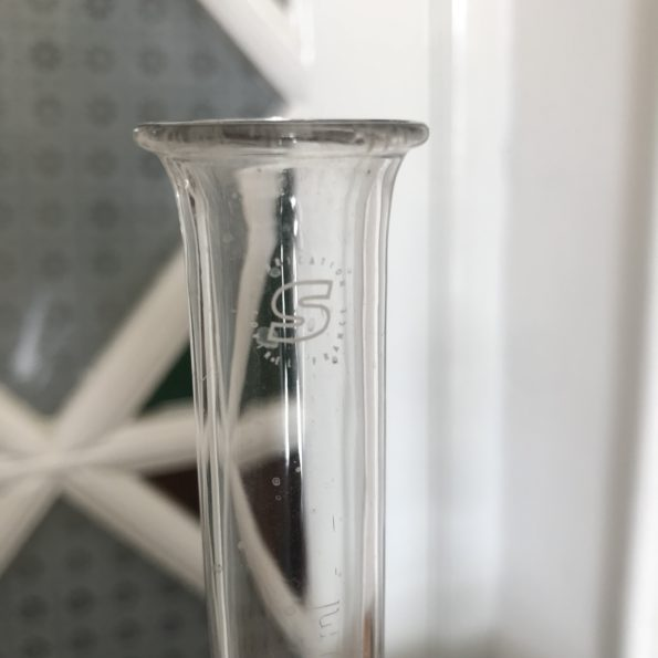 Lot de 3 pichets ballon en verre chimie Erlenmeyer labo